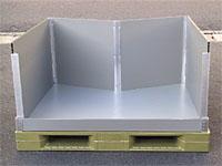 大型折りたたみコンテナ(段ズレ防止材付仕様)