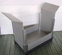 大型折りたたみコンテナ(枠パネル ハーフカット仕様)