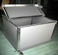 大型折りたたみコンテナ(フタ半開きタイプ仕様)